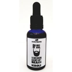 Argan infusion huile essentielle de Neroli. Bouteille belu foncé avec pipette. Soutien à l'UCFA, Coopératives