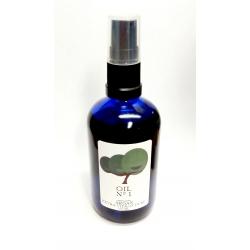organic fair trade argan oil premium. Supporting women cooperatives UCFA Morocco. 100ml with pump. Dark Blue glass bottle