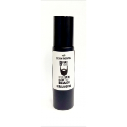beard oil. Organic argan oil infrused with bergamote essential oil. Rechargeable bottle black glass