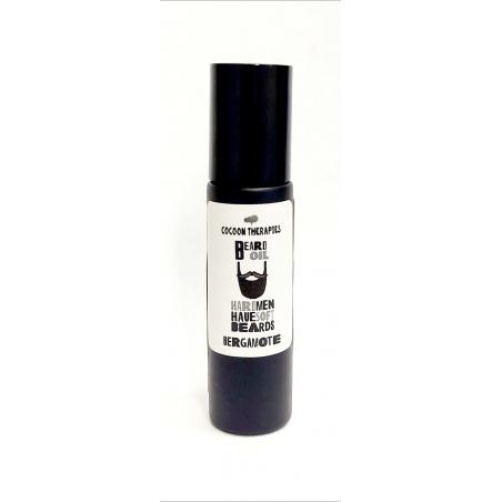 beard oil. Organic argan oil infrused with bergamote essential oil. Rechargeable bottle black glass